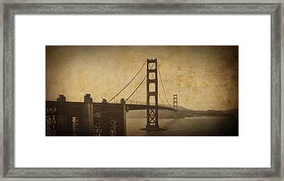 Vintage Grunge Golden Gate Framed Print