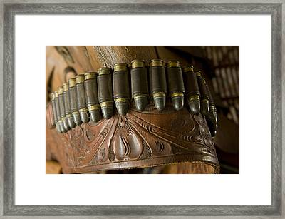 Vintage Holster And Bullets Framed Print by Joel Sartore