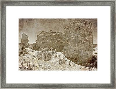 Vintage Hovenweep Castle Framed Print by Bob and Nancy Kendrick