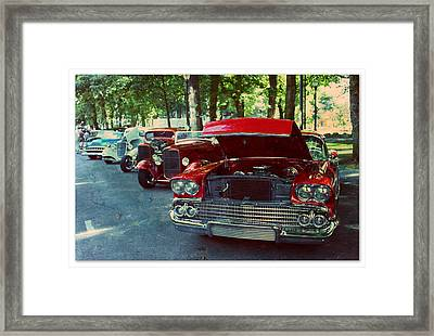 Vintage In A Row Framed Print
