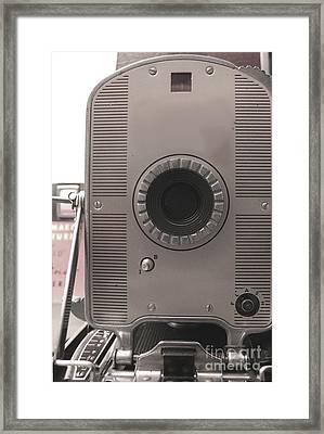 Vintage Instant Camera Framed Print by Yali Shi