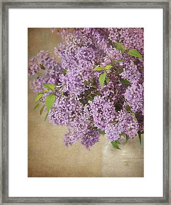 Framed Print featuring the photograph Vintage Lilac by Cheryl Davis