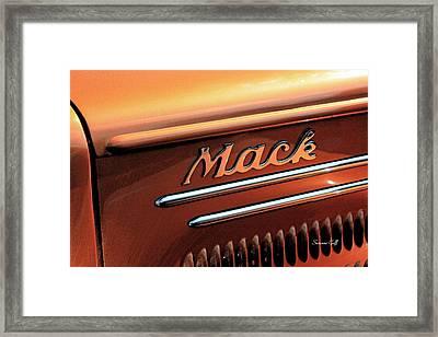 Vintage Mack Truck II Framed Print by Suzanne Gaff