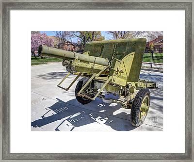 Vintage Military Howitzer  Framed Print