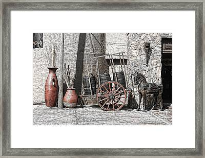 Framed Print featuring the photograph Vintage Museum Display by Lawrence Burry