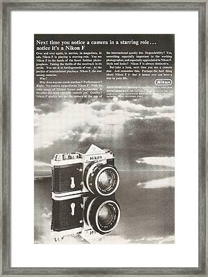 Vintage Nikon Camera Framed Print by Georgia Fowler