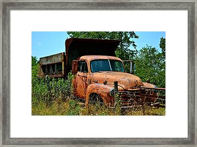 Framed Print featuring the photograph Vintage Old Time Truck by Peggy Franz