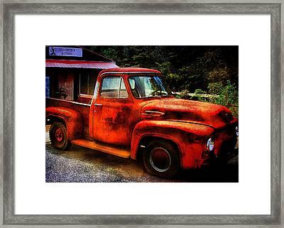 Vintage Pickup Truck Framed Print