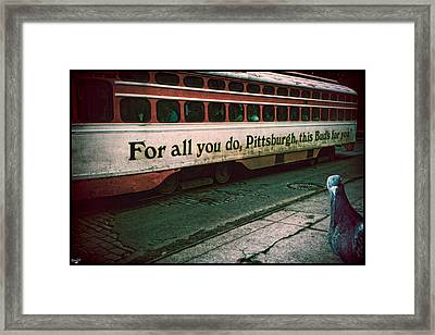 Vintage Pittsburgh Trolly Framed Print by Chris Lord
