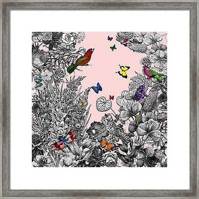 Vintage Pop-up Book In Rose Pink Framed Print by Carly Ralph