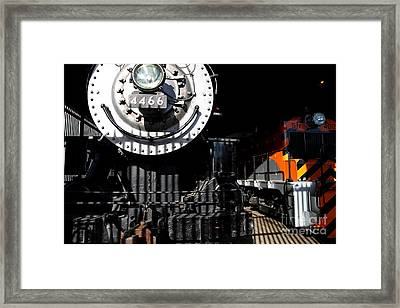 Vintage Railroad Locomotive Trains In The Train House . 7d11633 Framed Print by Wingsdomain Art and Photography