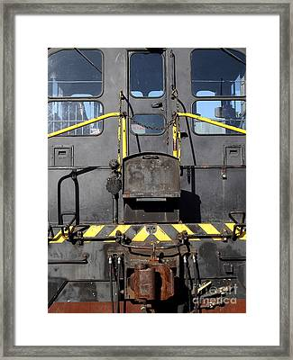 Vintage Railroad Train . 7d11598 . Closeup Framed Print by Wingsdomain Art and Photography
