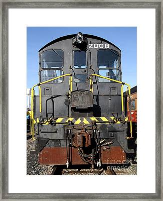 Vintage Railroad Trains . 7d11598 Framed Print by Wingsdomain Art and Photography