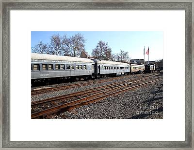 Vintage Railroad Trains . 7d11623 Framed Print by Wingsdomain Art and Photography