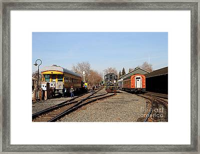 Vintage Railroad Trains In Old Sacramento California . 7d11513 Framed Print by Wingsdomain Art and Photography