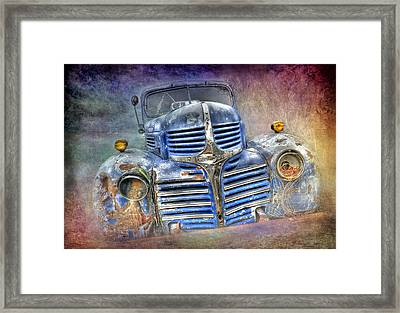 Vintage Rainbow Dodge Framed Print