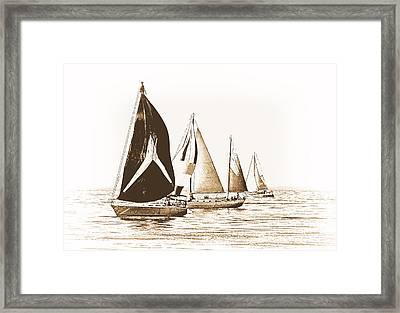 Vintage Regatta Framed Print