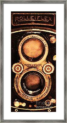 Vintage Rolleiflex Camera . Long Cut . 7d13357 Framed Print by Wingsdomain Art and Photography