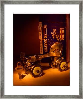 Vintage Roller Skates Framed Print