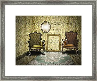 Vintage Room Interior Framed Print