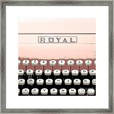 Vintage Royal Typewriter Framed Print by Glennis Siverson