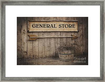Vintage Sign General Store Framed Print by Jane Rix