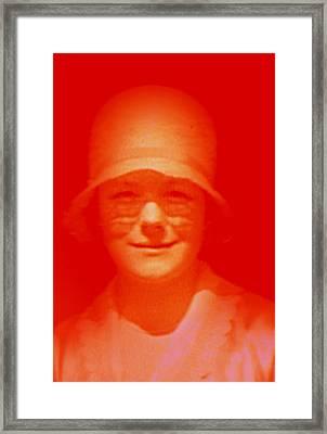 Vintage Smile Framed Print by Li   van Saathoff