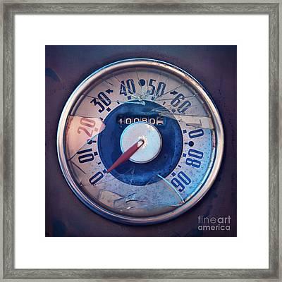 Vintage Speed Indicator  Framed Print by Priska Wettstein