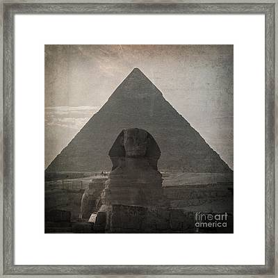 Vintage Sphinx Framed Print by Jane Rix