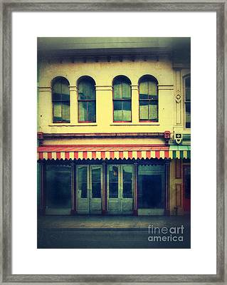 Vintage Store Fronts Framed Print by Jill Battaglia