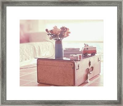Vintage Suitcase Framed Print by Carmen Moreno Photography