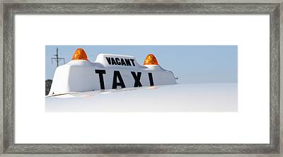 Vintage Taxi Framed Print by Theresa Johnson