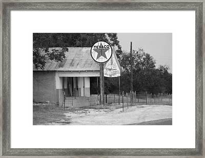 Vintage Texaco Framed Print