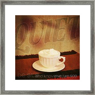Framed Print featuring the photograph Vintage Tin - Quiet by Mary Hershberger
