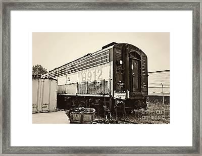 Vintage Train Boxcar Framed Print by Cheryl Davis