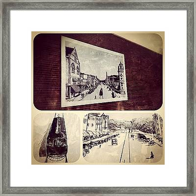 Vintage Turn-of-the-century Greenville Framed Print