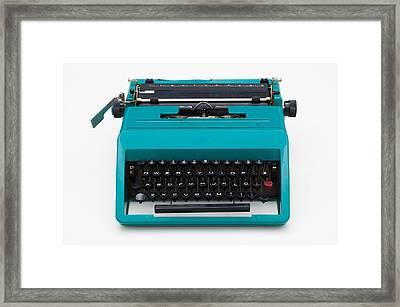 Vintage Typewritter Framed Print by Flavio Coelho