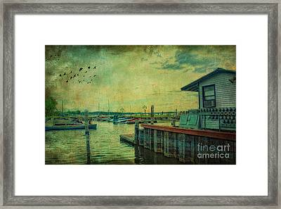 Framed Print featuring the photograph Vintage Vermont Harbor by Gina Cormier
