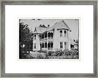 Vintage Victorian House Framed Print by Susan Leggett