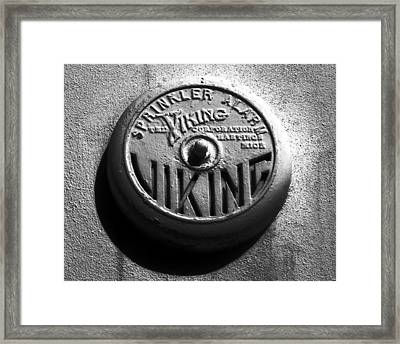 Vintage Viking Framed Print