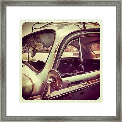 Vintage Vw Framed Print by Gwyn Newcombe