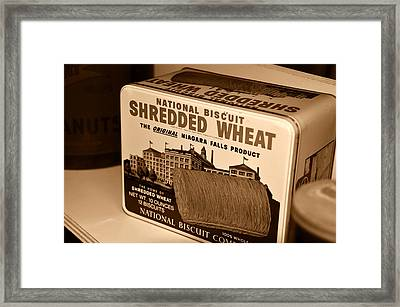 Vintage Wheat Framed Print by David Lee Thompson