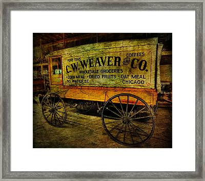 Vintage Wholesale Groceries Wagon - C.w. Weaver Company - Vintage - Nostalgia - General Store -  Framed Print by Lee Dos Santos