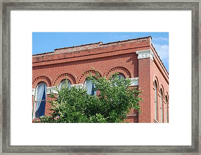 Vintage Window Details At The Ant Street Inn  Framed Print by Connie Fox