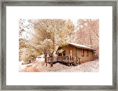 Vintage Winter Green Framed Print