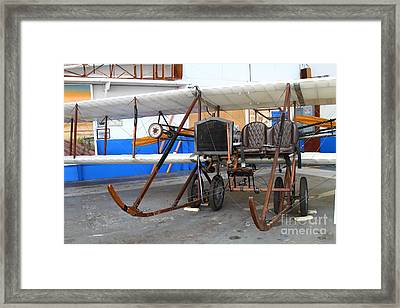 Vintage Wright Brothers Type Airplane . 7d11147 Framed Print by Wingsdomain Art and Photography