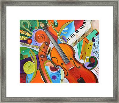 Viola And Friends Framed Print by Alexandra  Kube