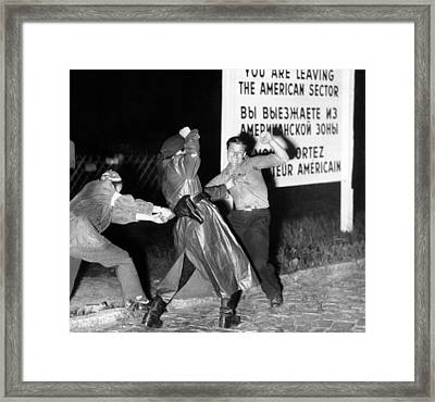 Violent Clash Between An East German Framed Print by Everett
