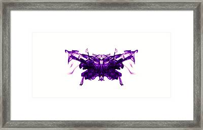 Violet Abstract Butterfly Framed Print by Sumit Mehndiratta
