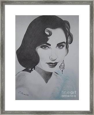 Violet Eyed Beauty Framed Print by Christy Bruna